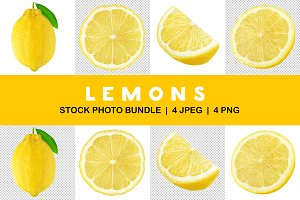 Isolated lemons collection