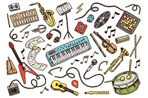 Set of musical symbols and