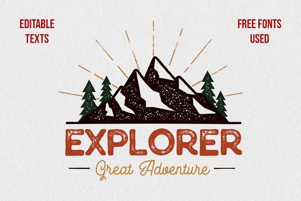 Outdoor Explorer Tee Design
