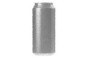 Aluminium beer or soda mock up