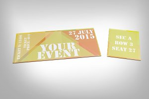 Abstract event ticket