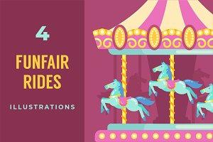 Funfair amusement rides