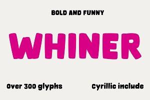 OT Whiner Bold font