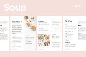 Media Kit Template for Food Blogger