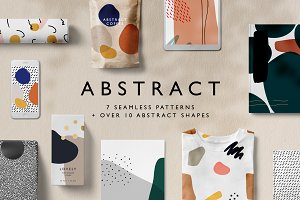 Abstract Seamless Patterns + Shapes