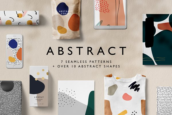 Graphics: New Public - Abstract Seamless Patterns + Shapes