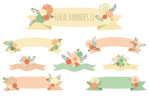 Floral Banners II (vector set)
