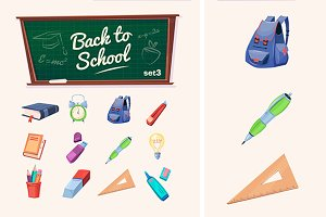 Back to school. Vector icons