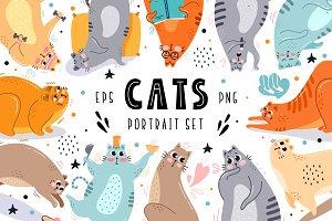 Cats Portrait Set