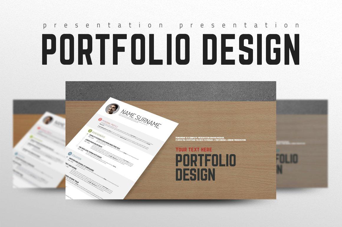 Portfolio Design Template | Portfolio Design Presentation Templates Creative Market