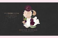 Spring Florals in Pencils - Duo Set