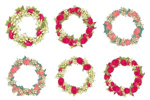 Set of six wreaths