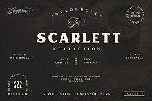 Scarlett Font Bundle + 12 Logos