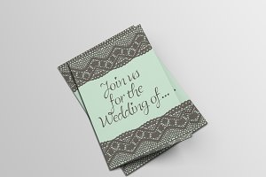 Lace wedding invitation card