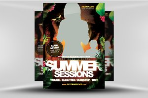 Summer Sessions Flyer Template