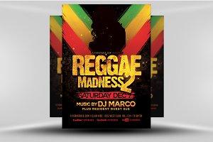 Reggae Madness Flyer Template
