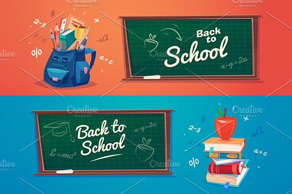Back to school. Vector - Illustrations