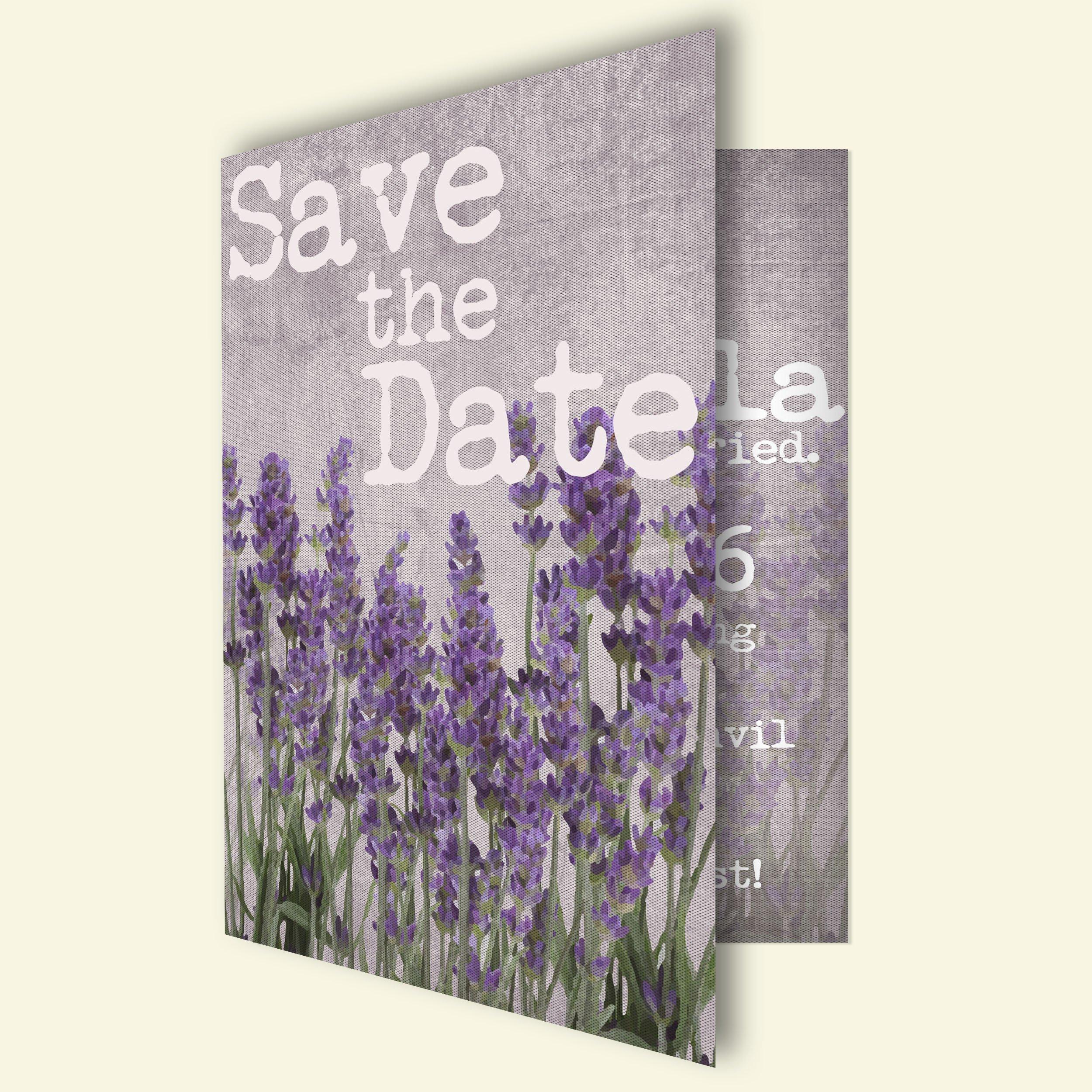 Lavender wedding invitation card ~ Invitation Templates ~ Creative ...