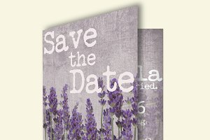 Lavender wedding invitation card