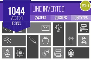 1000+ Line Inverted Icons (V1)