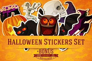 Halloween Stickers Set + Bonus