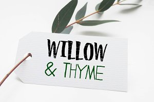 Willow & Thyme with Logo Ornaments