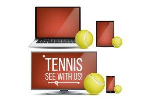 Tennis Application Vector. Court