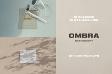 Ombra Stationery Shadow Mockups by  in Print