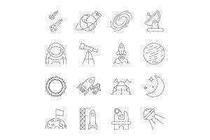 Space icons, astronomy theme