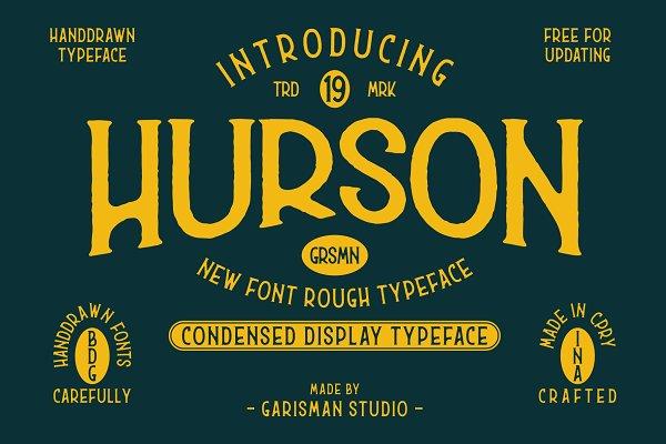Serif Fonts: Garisman Std - Hurson Rough - Serif