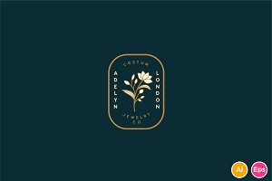Elegant Vintage Botanical Logo
