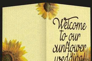 Sunflower invitation card