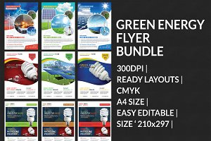 Green Energy Business Flyers Bundle