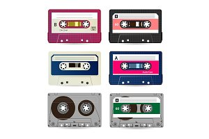 Retro Audio Cassette Vector