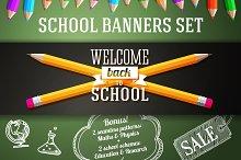 Back to School Banners Set + Bonus