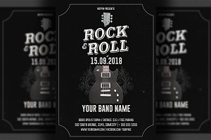 Live Music Rock Flyer Template