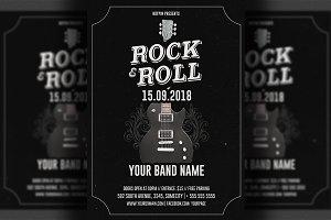 Live Music Rock Flyer Template