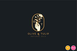 Olive and Tulip Logo template