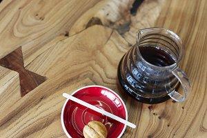 Chemex Coffeemaker coffee and sweets