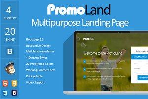 PromoLand- Multipurpose Landing Page