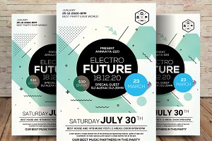 Future Sound Flyer and Cover