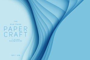 Paper Craft 7 Blue Backdrop