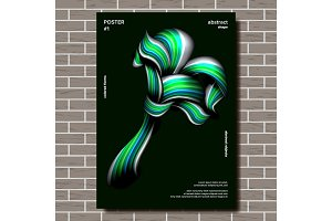 Modern Abstract Cover Poster Vector