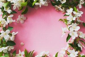 Beautiful apple blossom layout