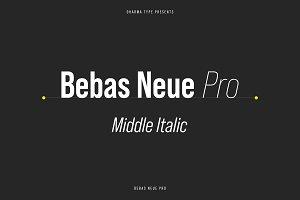 Bebas Neue Pro - Middle Italic