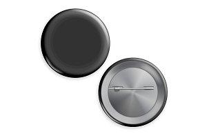 Blank Black Badge Vector. Advertise