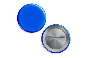 Blank Blue Badge Vector. Circle