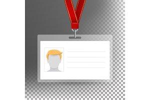Employee Card Vector Blank