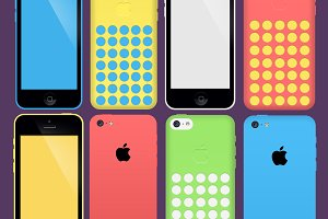 iPhone 5c PSD Pack