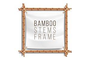 Bamboo Frame Template Vector. Good